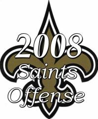 The 2008 New Orleans Saints Offense