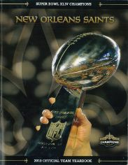 2010 New Orleans Saints Yearbook Cover
