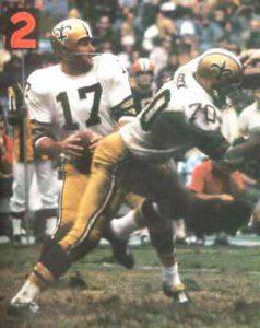 Billy Kilmer of the New Orleans Saints