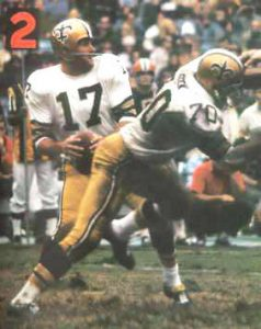 Billy Kilmer of the New Orleans Saints