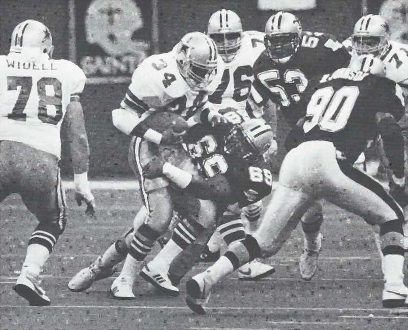 1989 New Orleans Saints Defense Shuts Out Dallas