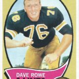 Dave Rowe New Orleans Saints Topps Trading Card