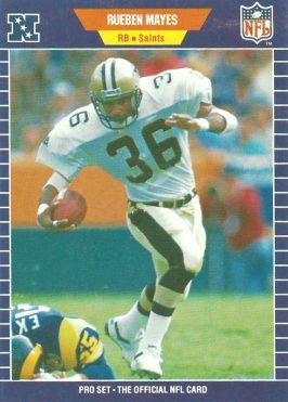 Reuben Mayes 1989 Pro Set Card