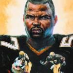 A Bob Graham Potrait of Saints Linebacker Rickey Jackson