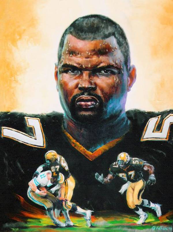 A Bob Graham Potrait of Saints Linebacker Rickey Jackson