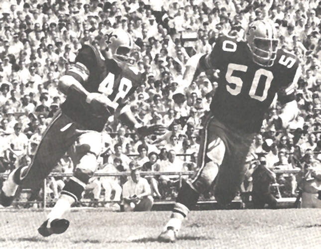 Andy Livingston and Jake 1969 New Orleans saints