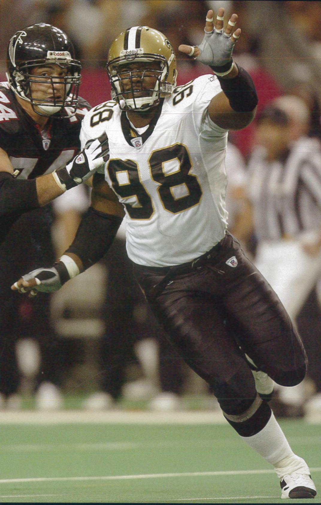 Willie Whitehead 2002 New Orleans Sants Defense