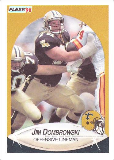 Jim Dombrowski Fleer '90 Card