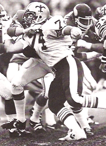 Derland Moore of the New Orleans Saints