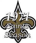 The 1971 New Orleans Saints NFL Season