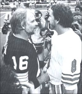 Archie Manning and Kenny Stabler Meet on the Field of Super Dome