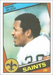 Wayne Wilson 1984 New Orleans Saints Topps Card