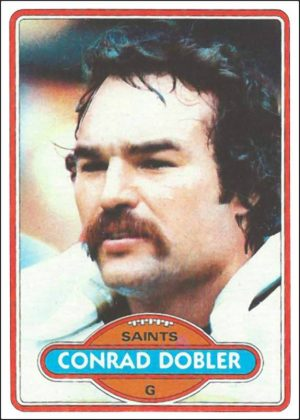 Conrad Dobler 1980 New Orleans Saints Trading Card