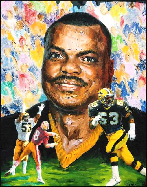 Saints Linebacker Vaughan Johnson, a Portrait by Bob Graham