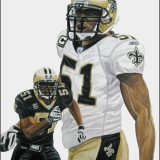 Jonathan Vilma. A Portrait of the Saints Linebacker by Nick Keiser