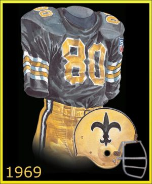 A watercolor painting of the Saints 1969