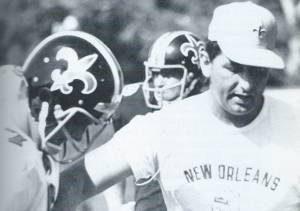 Picture of the New Orleans Saints 1969 Black Helmet