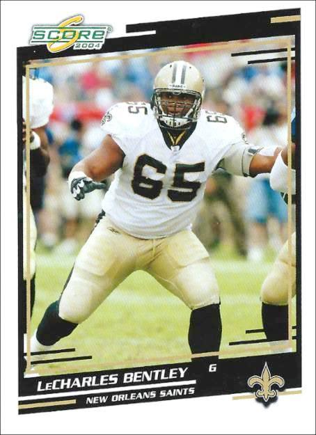 LeCharles Bentley 2004 New Orleans Saints Trading Card