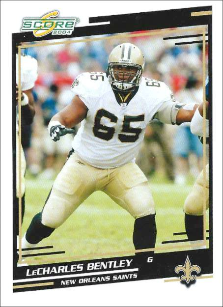 LeCharles Bentley 2004 New Orleans Saints Trading Card