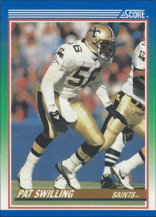 Pat Swilling 1990 New Orleans Saints Fleer Card