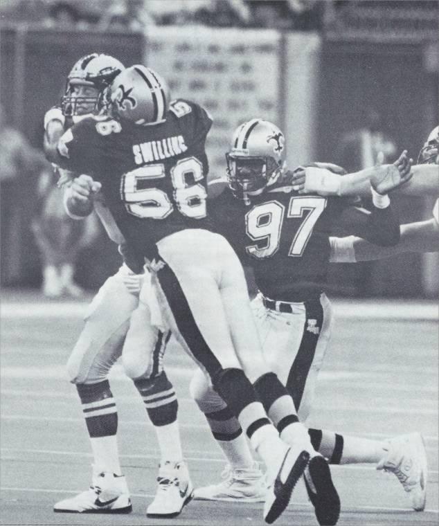 Pat Swilling and Renaldo Turnball 1991 New Orleans Saints