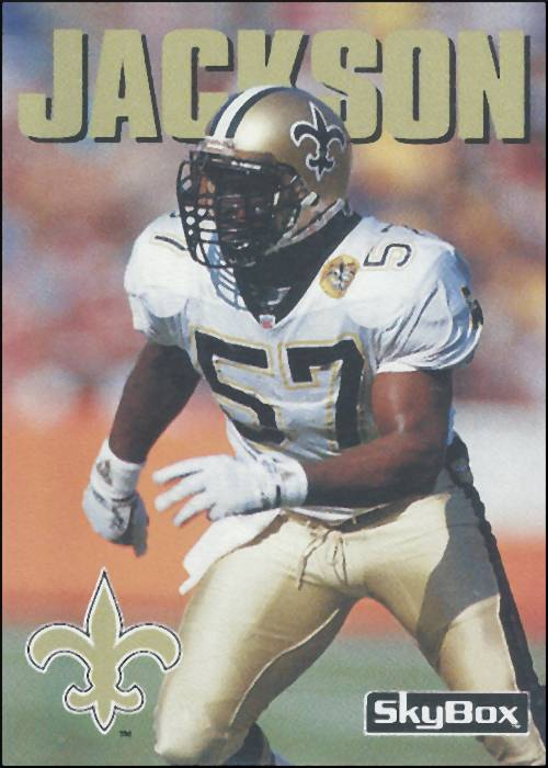 Rickey Jackson 1992 New Orleans Saints Skybox Card