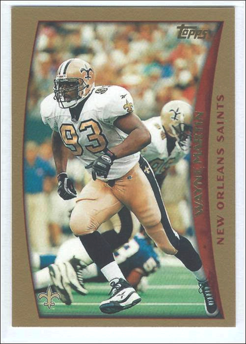 Wayne Martin 1998 New Orleans Saints Topps Card