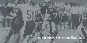 1986 Saints Offense