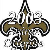 Statistics of the 2003 New Orleans Saints NFL Season