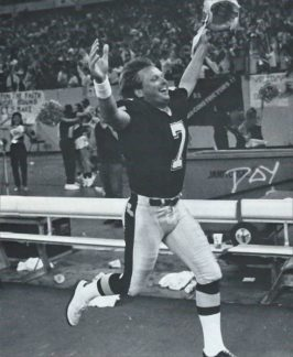 Morten Andersen after winning field goal against Cowboys 1988