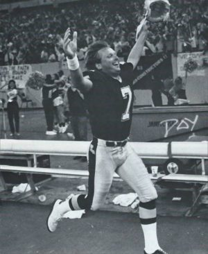 Winner! Morten Andersen after his Game Winning Kick against the Cowboys