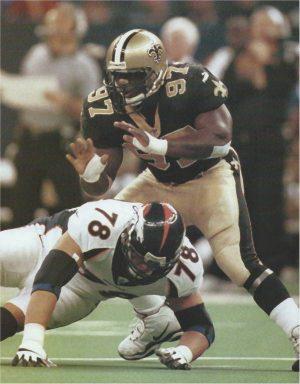 Saints All-Pro Defensive Tackle La'Roi Glover 1997-2001