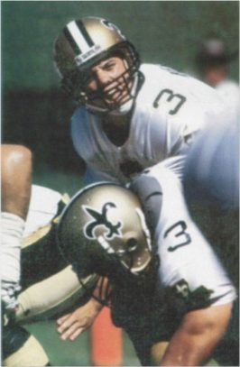 New Orleans Saints Quarterback Bobby Hebert in 1987