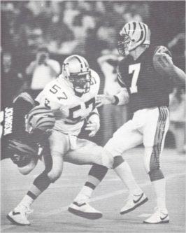 Saints Rickey Jackson sacks Bengals Boomer Esiason