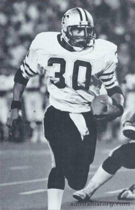 Saints Running back Wayne Wilson in 1984