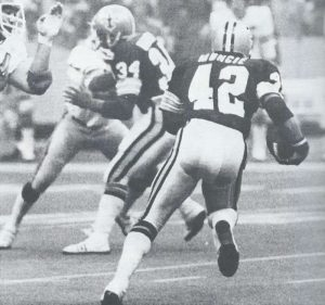 Tony Galbreath blocking for Chuck Muncie