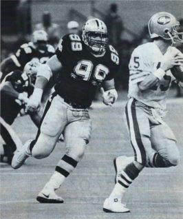 Saints Defensive Lineman Tony Elliott inn 1986