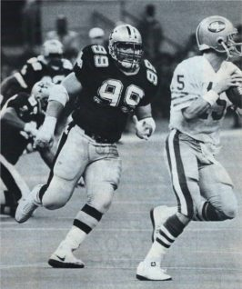 Saints Defensive Lineman Tony Elliott inn 1986