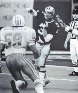 New Orleans Saints Quarterback Bobby Hebert against