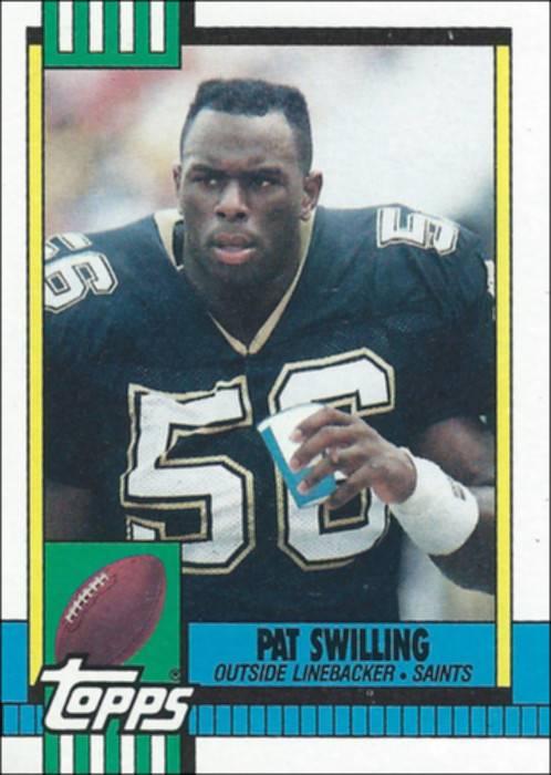 Pat Swilling 1990 Topps Card