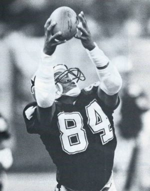 Saints Receiver Eric Martin Makes a Catch in 1987