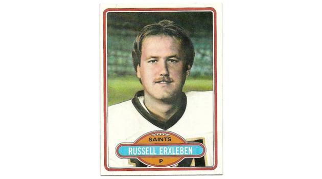 Russell Erxlebean Topps Card