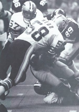 Rickey Jackson and Glenn Redd make a Tackle Against the Pittsburgh Steelers