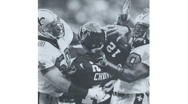 1998 Saints Defense – Falcon Quarterback Goes Down!