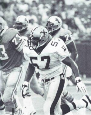 New Orleans Saints Linebacker Rickey Jackson in 1988