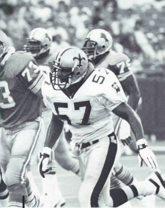 New Orleans Saints Linebacker Rickey Jackson in 1988