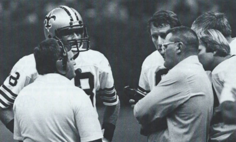 Bum Phillips with Saints quarterbacks Dave Wilson and Archie Manning | New Orleans Saints 1981