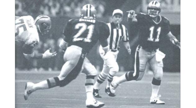 John Fourcade passes to Dalton Hilliard | 1990 New Orleans Saints