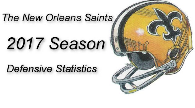 2017 New Orleans Saints Defensive Statistics