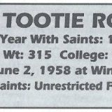 "Top 10 Worst Free Agents Signed by the Saints: #10 – James ""Tootie"" Robbins"